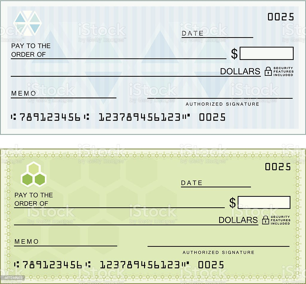 Blank Checks vector art illustration