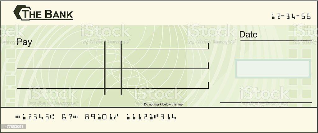 Blank cheque illustration vector art illustration