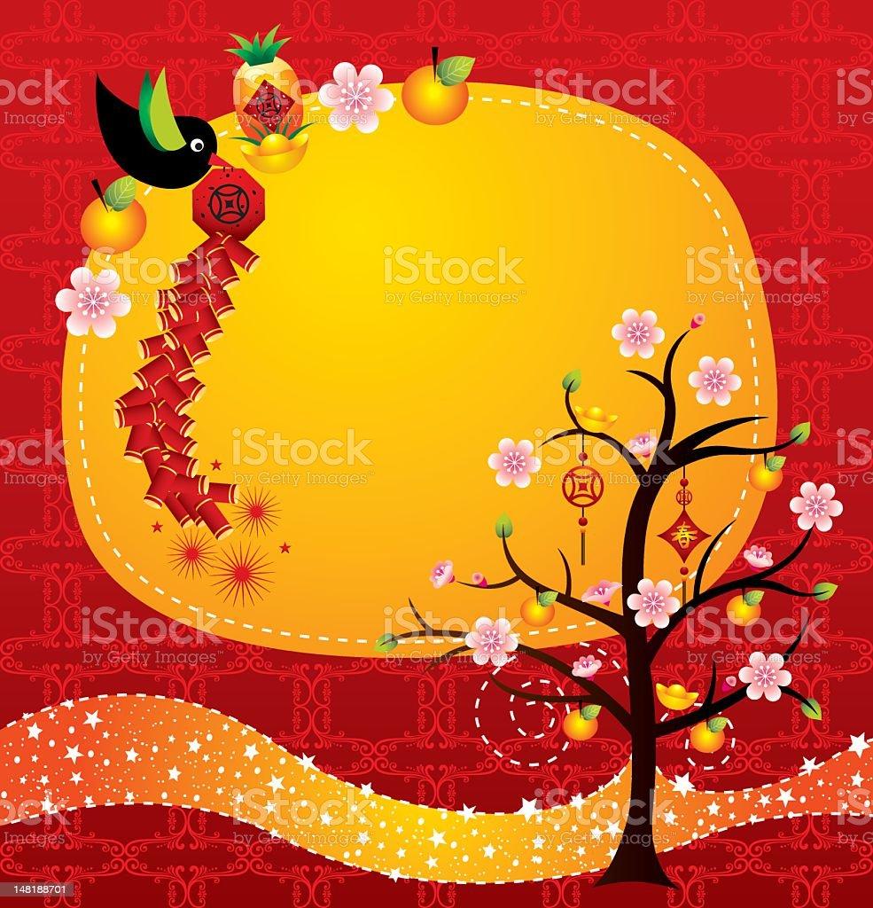 Chinesisches Neujahr Wünsche Und Begrüßung Stock Vektor Art und mehr ...