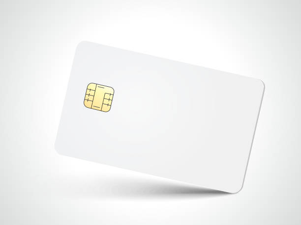 blank chip card - credit cards stock illustrations, clip art, cartoons, & icons