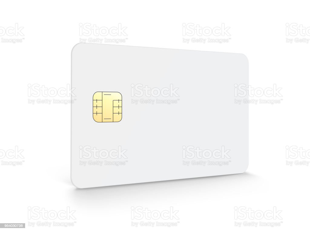 Blank chip card vector art illustration