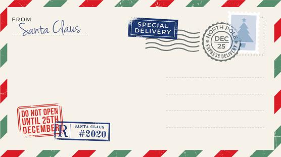 Blank Christmas Postcard. Stock illustration