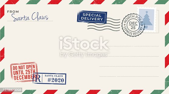 Blank Christmas Postcard. Stock illustration