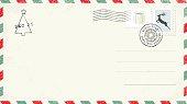 Blank Christmas Postcard