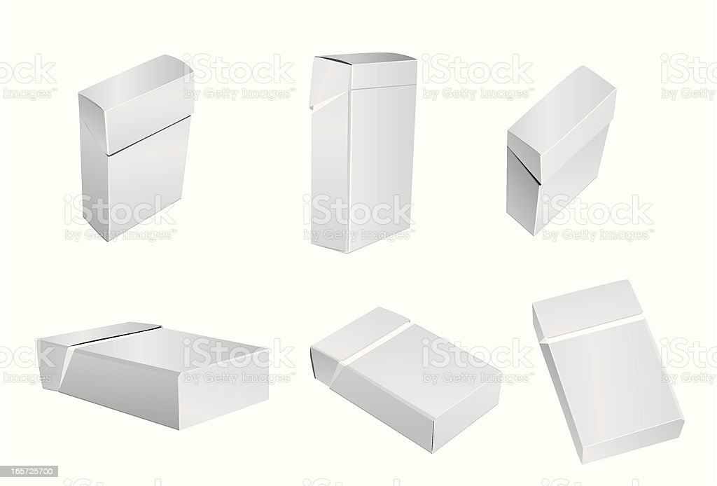 Blank cigarettes pack royalty-free blank cigarettes pack stock vector art & more images of cardboard box
