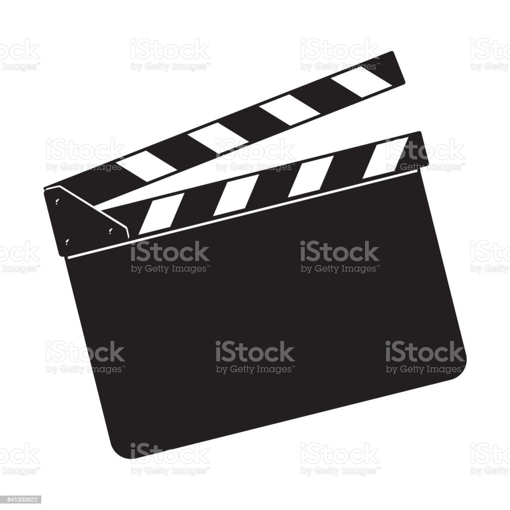 Blank cinema production black clapper board