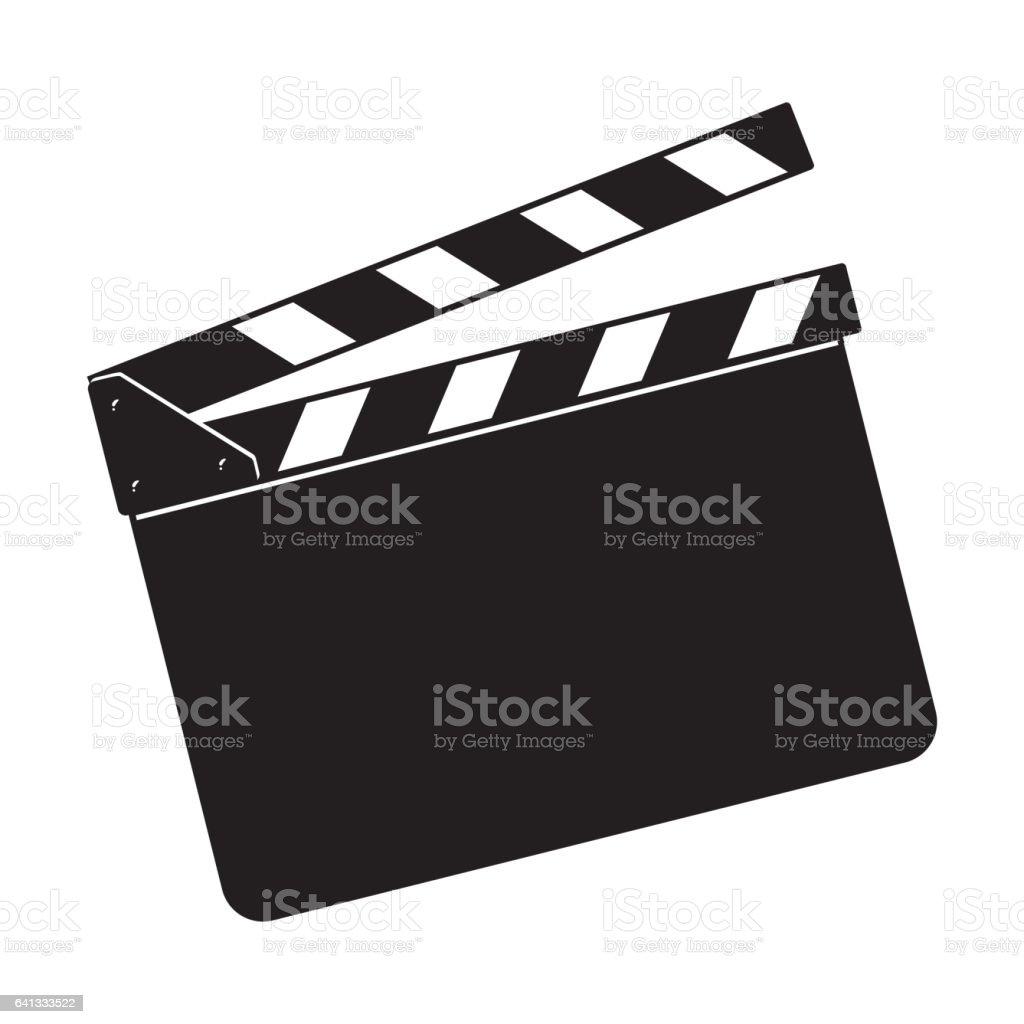 Blank cinema production black clapper board vector art illustration