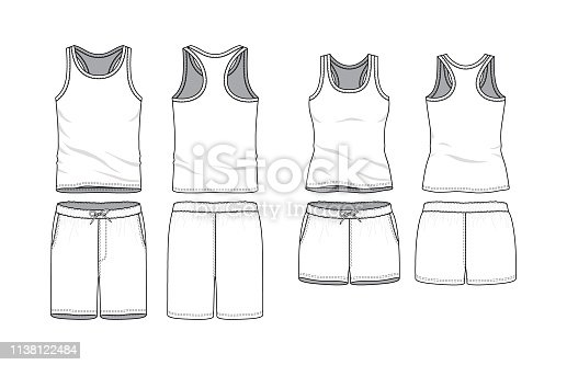 Blank clothing templates.