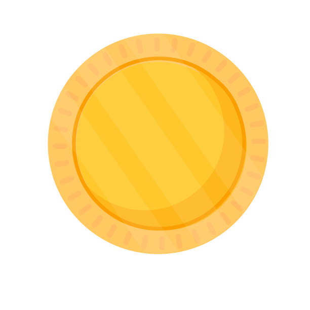 royalty free blank golden coin clip art vector images