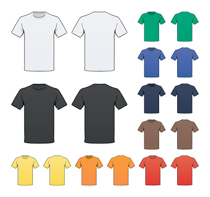 Blank Colored T-shirt template
