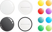 Blank colorful badges