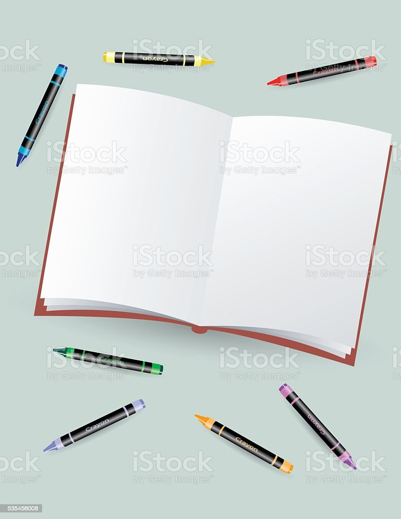 Blank Coloring Book vector art illustration