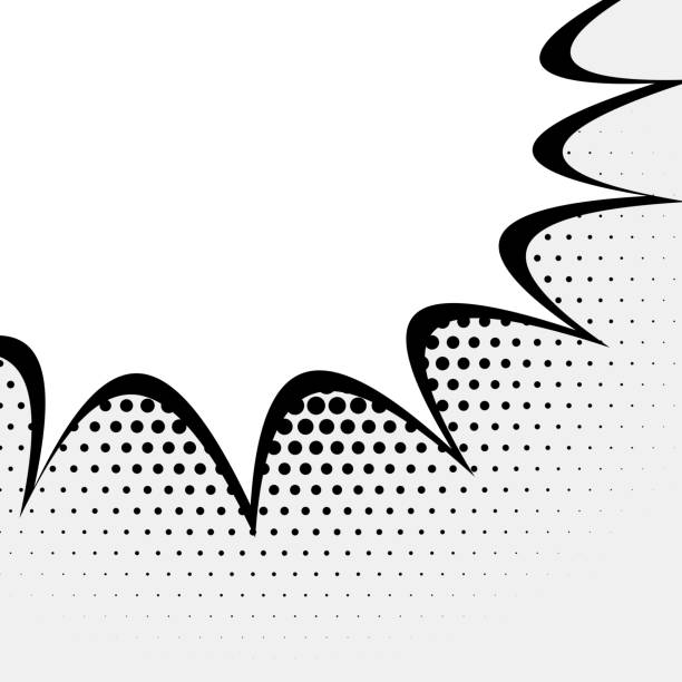 Leere Comic-Ausdruck Hintergrunddesign – Vektorgrafik