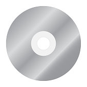 Blank compact disk CD. Vector icon.