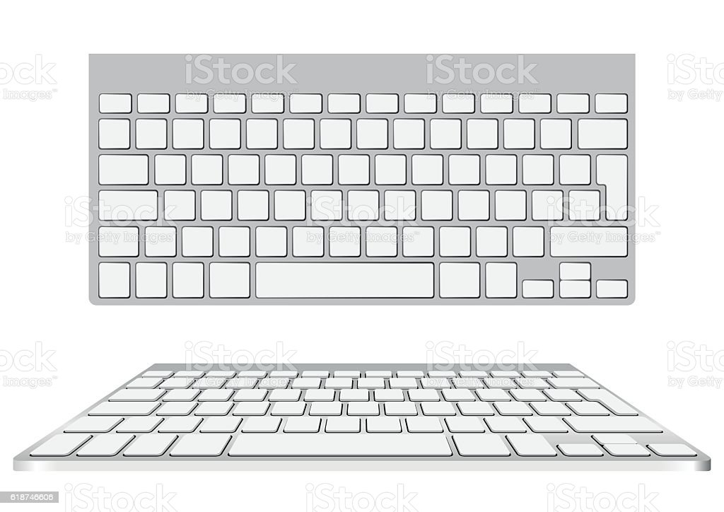 blank computer keyboard vector art illustration