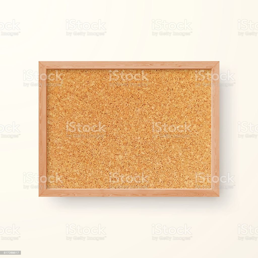 Blank Cork Board - Cork Background vector art illustration