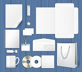 Blank corporate identity mock ups set