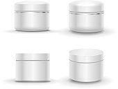 Blank cosmetic package container for cream, powder or gel