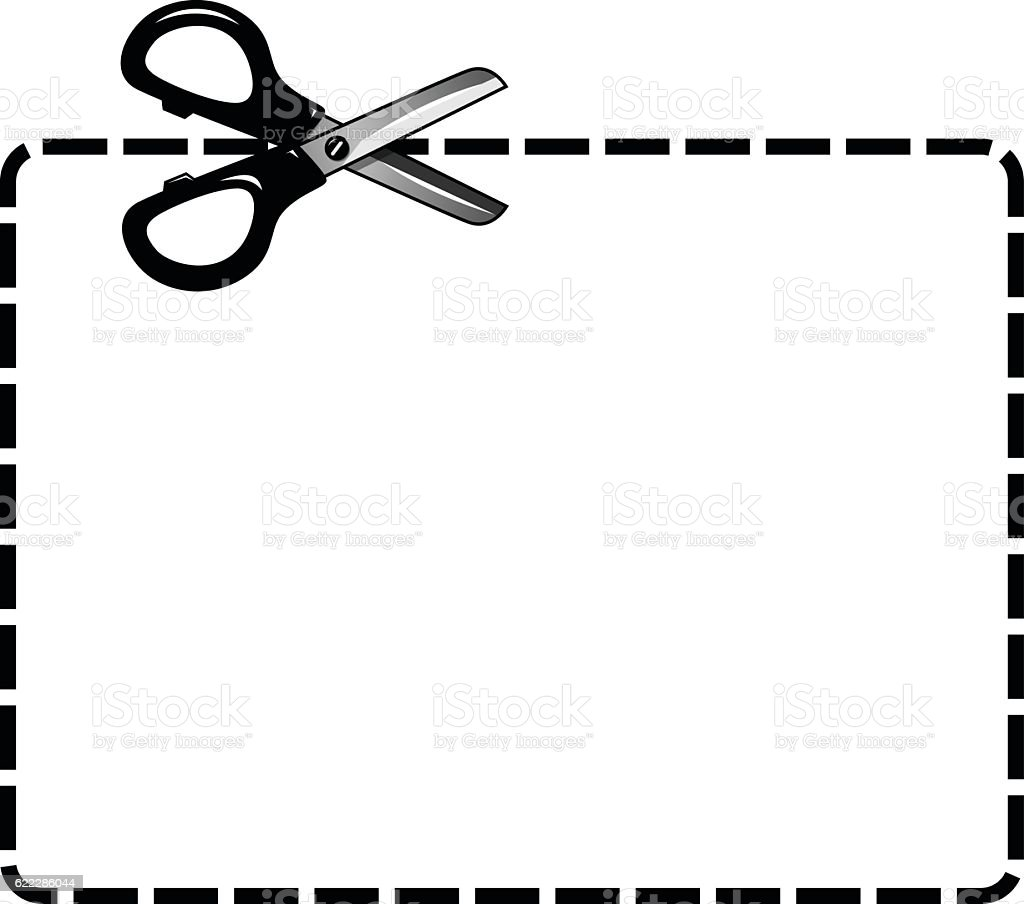 blank coupon cutout isolated scissor stock vector art more images rh istockphoto com coupon clipart free clipart coupon design