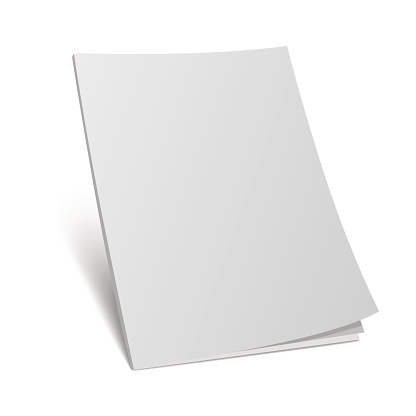blank cover 3d magazine mock template