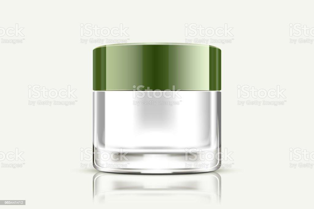 Blank cream jar royalty-free blank cream jar stock vector art & more images of applying