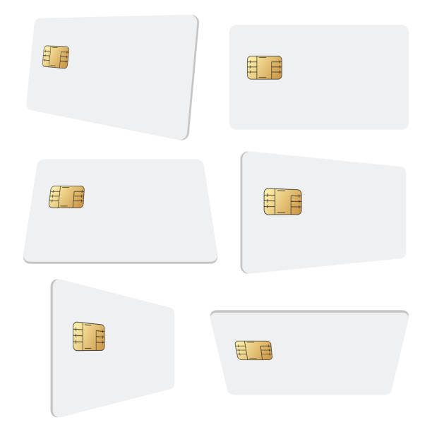 blank credit card vector design illustration isolated on white background - credit card stock illustrations