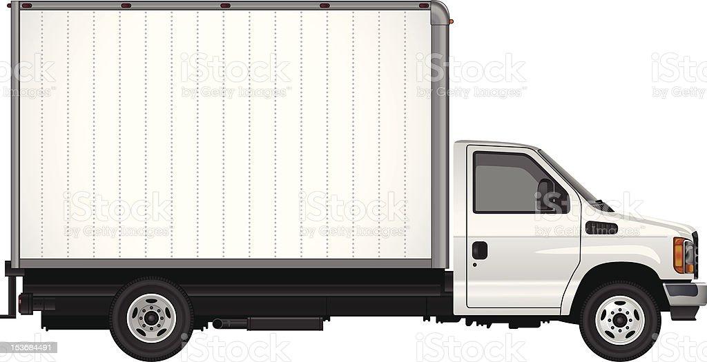 Blank Cube Van Vector royalty-free stock vector art