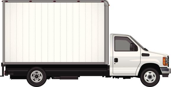 Blank Cube Van Vector