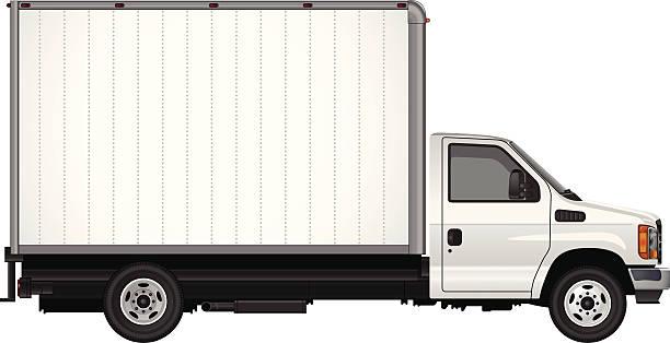 blank cube van vector - delivery van stock illustrations, clip art, cartoons, & icons