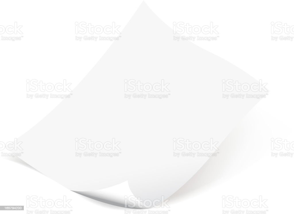 blank curled paper royalty-free blank curled paper stock vector art & more images of adhesive note
