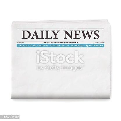 istock Blank Daily Newspaper 609727202