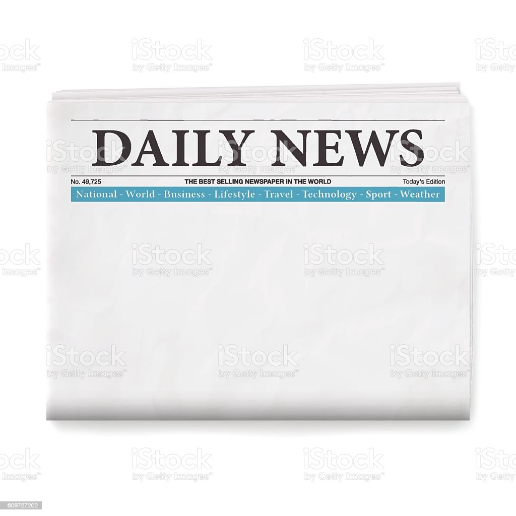 Blank Daily Newspaper vector art illustration