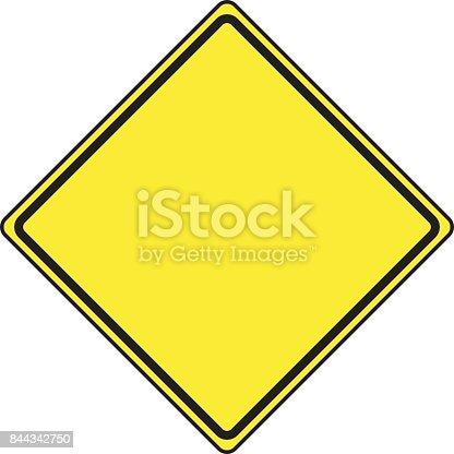 Blank Diamond Shaped Road Sign Stock Vector Art & More ...
