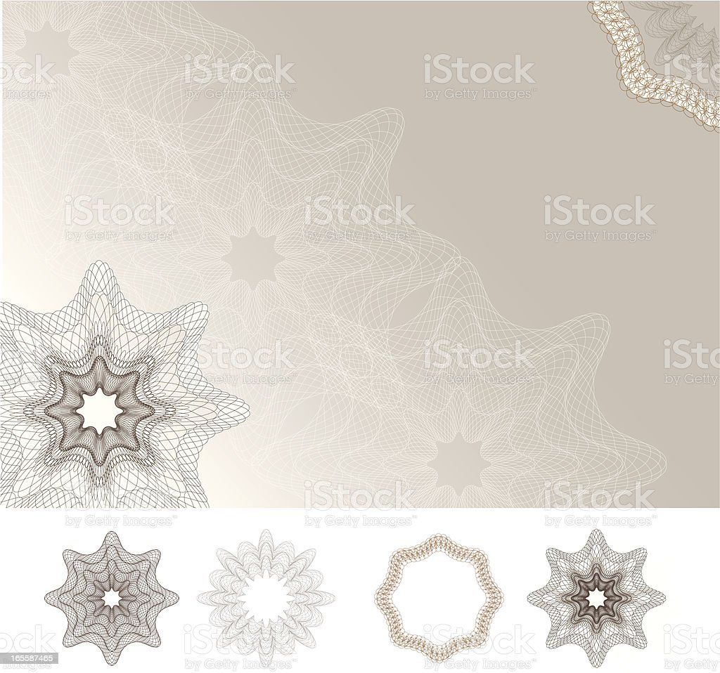 Blank Diploma Certificate  /  Greeting Card royalty-free stock vector art
