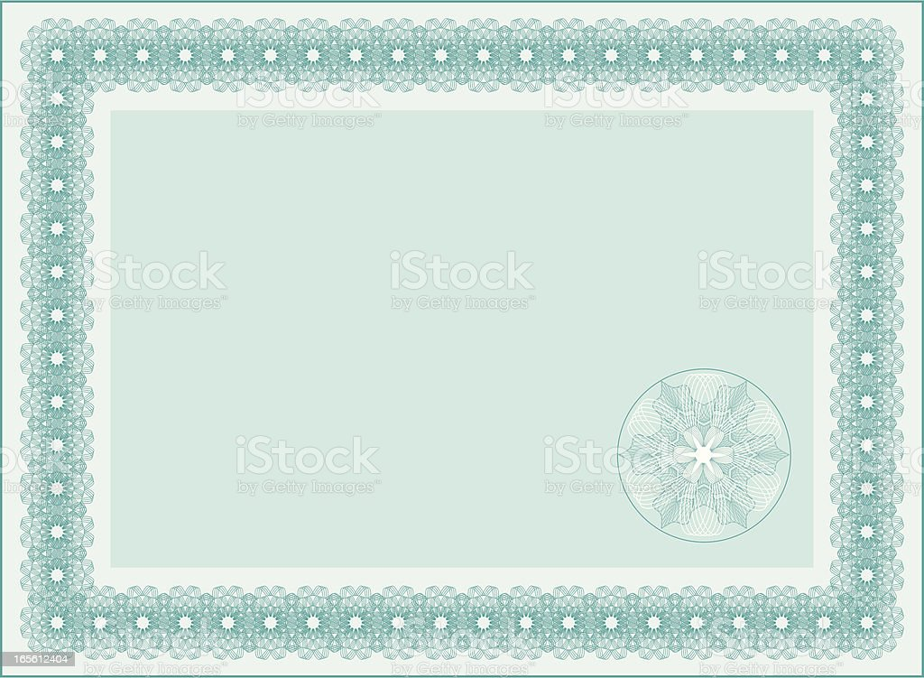 Blank Diploma or Certificate / Frame royalty-free stock vector art