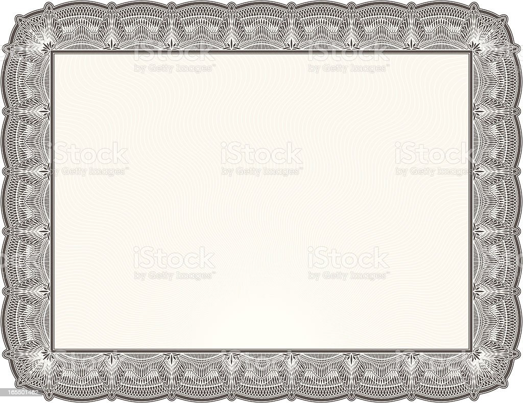 Blank Diploma or Certificate royalty-free stock vector art