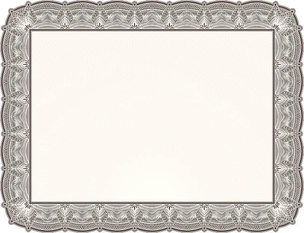 Blank Diploma or Certificate vector art illustration