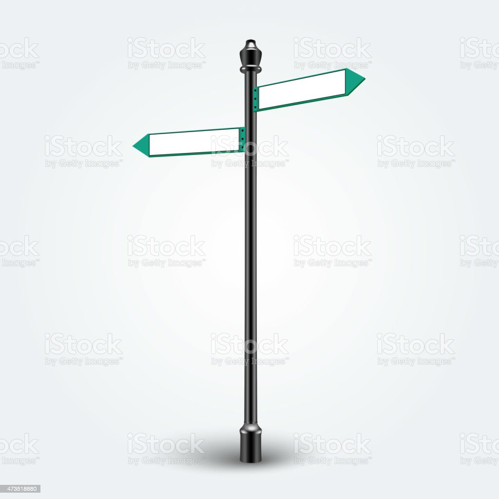 Blank Direction arrows signs for copy space vector art illustration