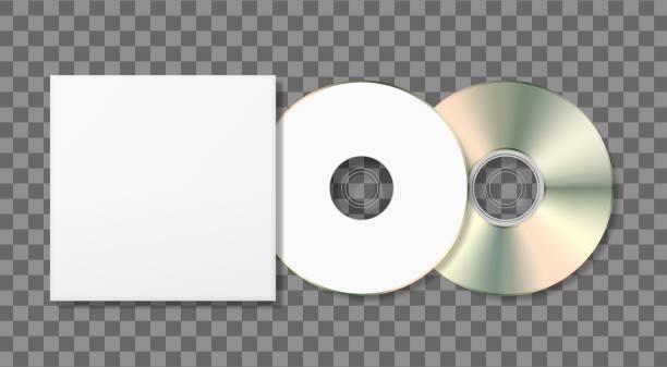 ilustrações, clipart, desenhos animados e ícones de disco caixa modelo e em branco - cd