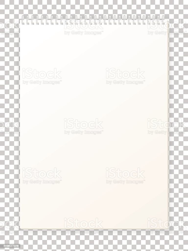 Blank empty album notepad format A4 for drawing vector art illustration