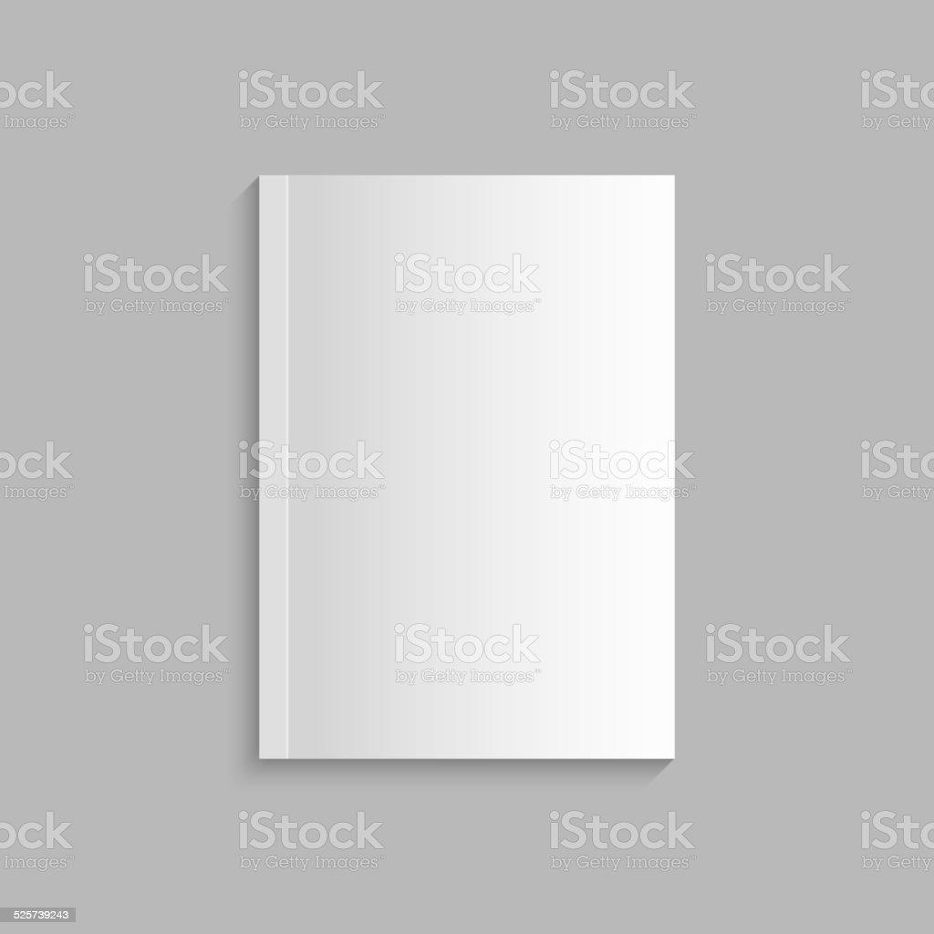 Blank empty magazine template vector art illustration