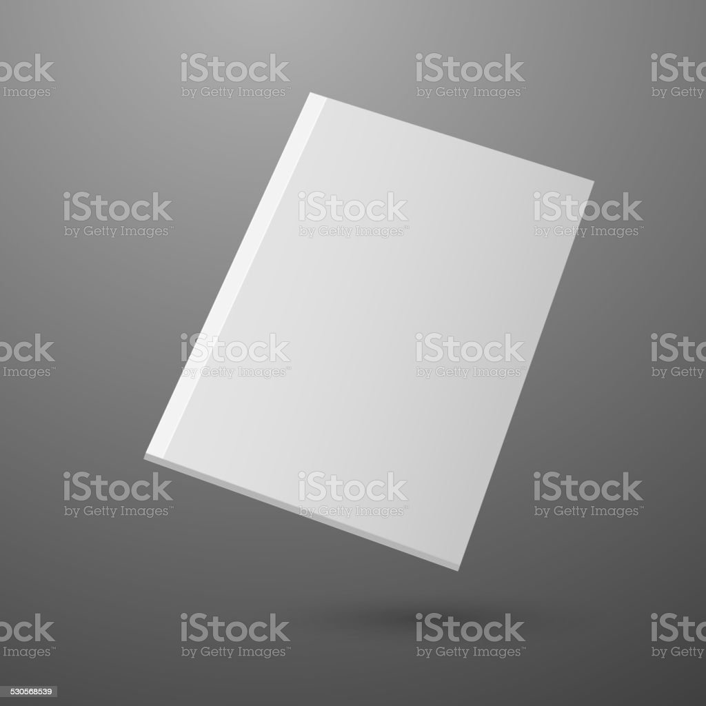 Blank empty magazine template vector art illustration