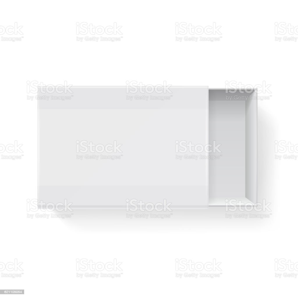 Blank empty white paper packaging matchbook, matchbox isolated. Vector illustration - ilustración de arte vectorial