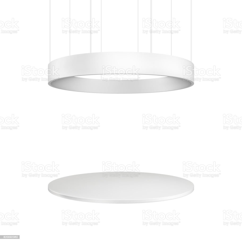 Blank exhibition stand. Illustration isolated on white background vector art illustration