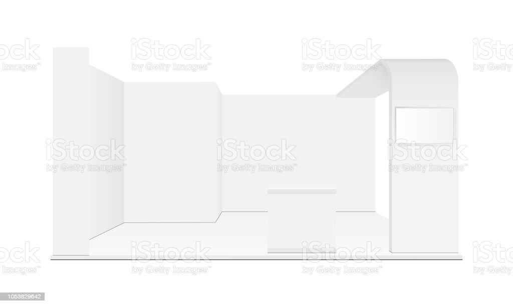 Blank Exhibition Trade Show Booth Mockup Stock Illustration