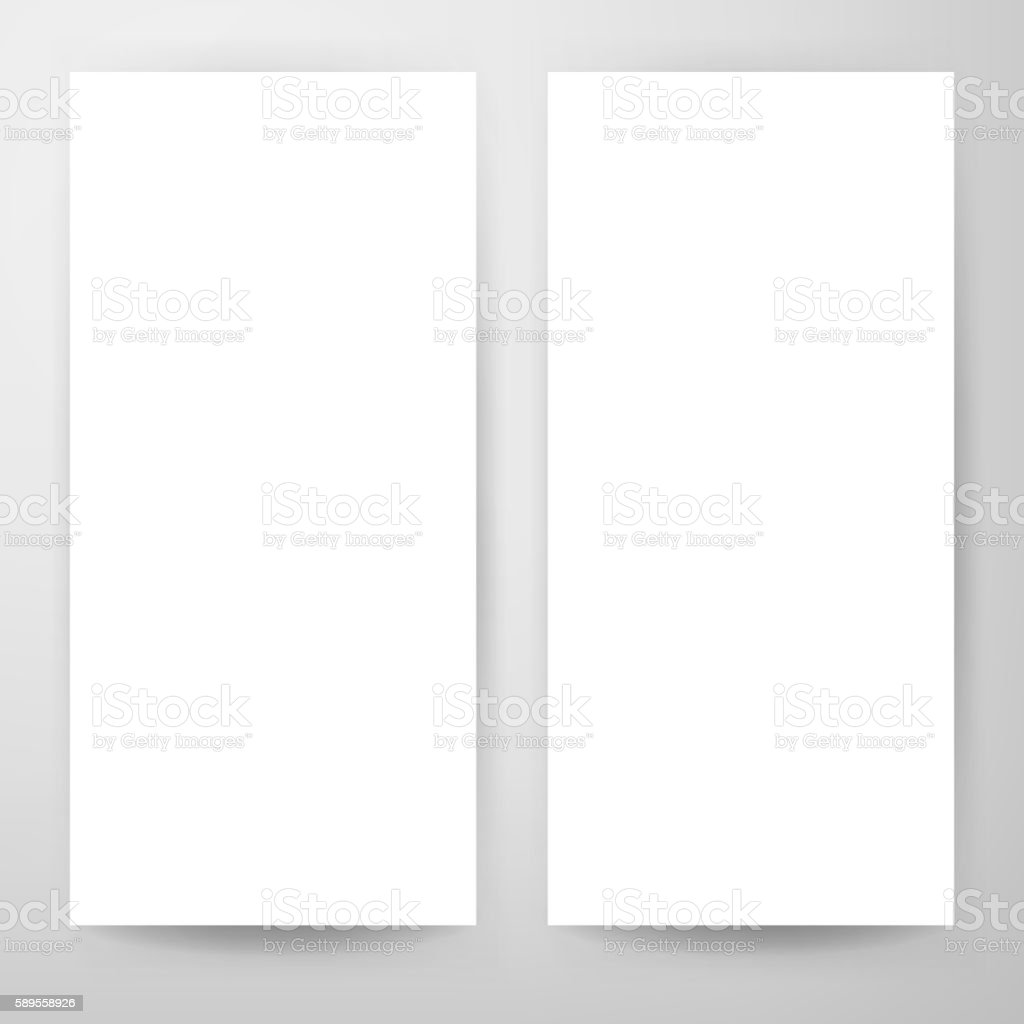 blank flyer mockup template stock vector art more images of banner