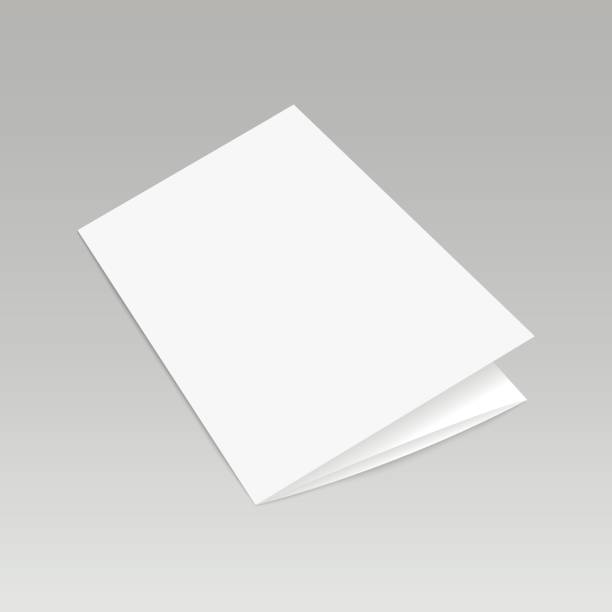 Blank folded leaflet white paper template ready for your business. Vector illustration Blank folded leaflet white paper template ready for your business. Vector illustration caucasian ethnicity stock illustrations