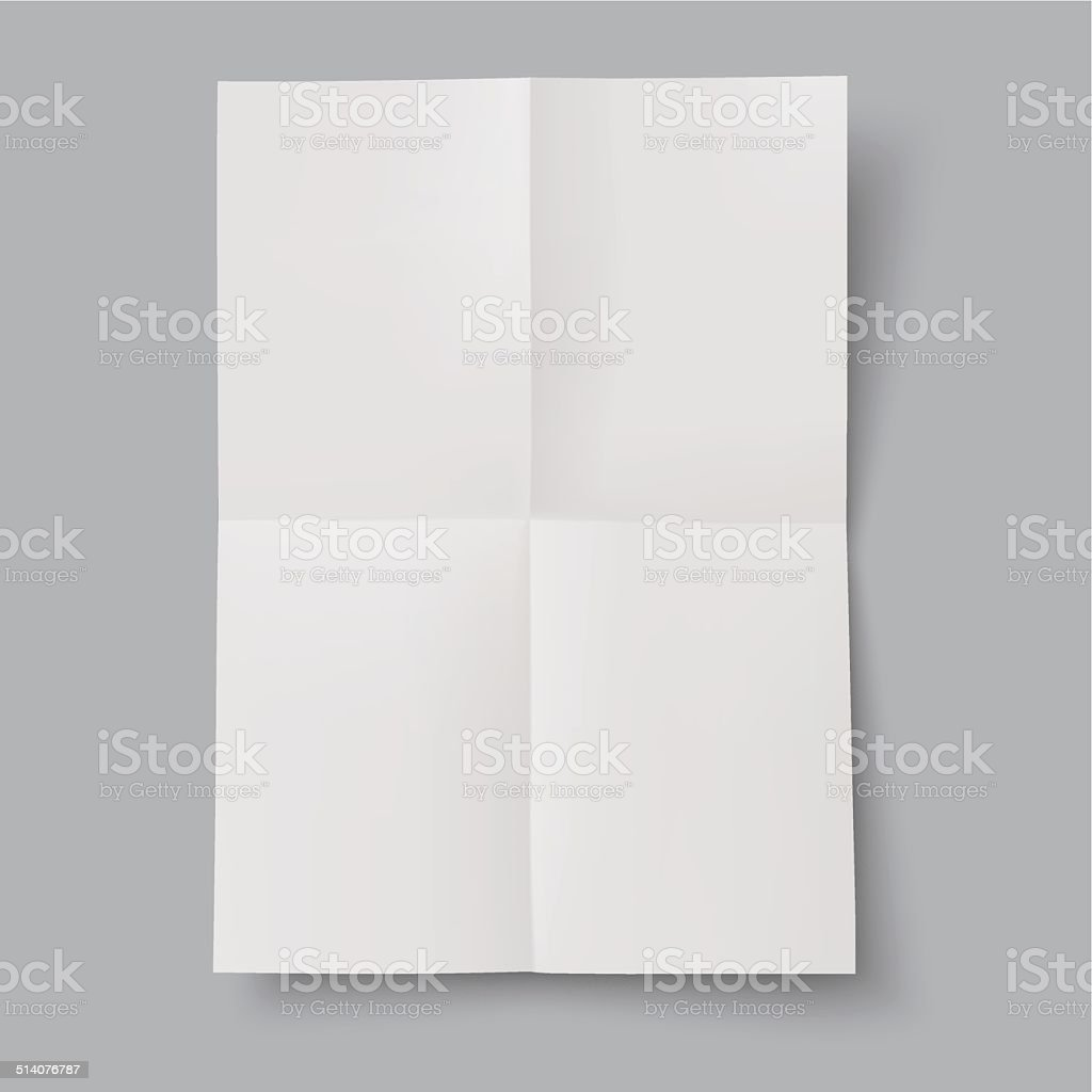 blank folded paper vector art illustration