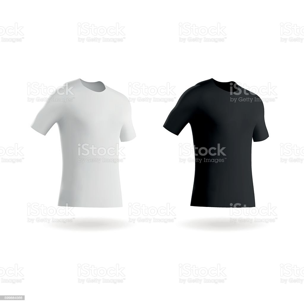 Blank Football Shirts / Soccer Shirts / Fitted T-Shirts Tee vector art illustration