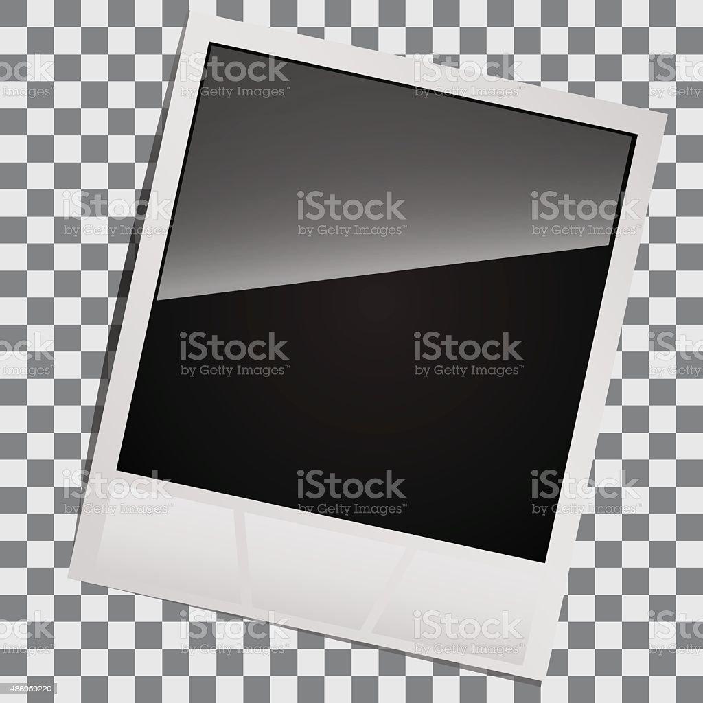blank for instant photos vector art illustration